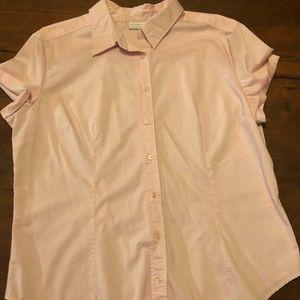 Ladies light pink button down shirt